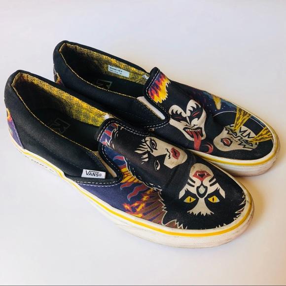 80fe934e6d KISS Vans Mens Shoes Sz 7.5 Slip On RARE. M 5b9833f65c4452f5b5e82342